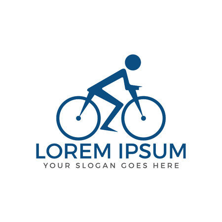 Bicycle vector logo design. Race road bike. Bicycle eco transport. Vectores