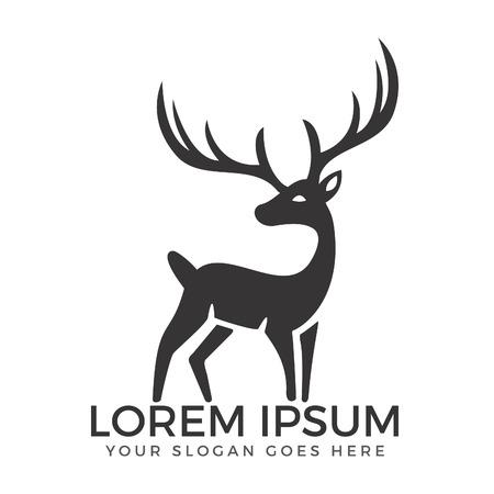 Deer vector logo design.