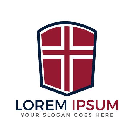Cross vector logo design template. Template logo for churches and Christian organizations cross.