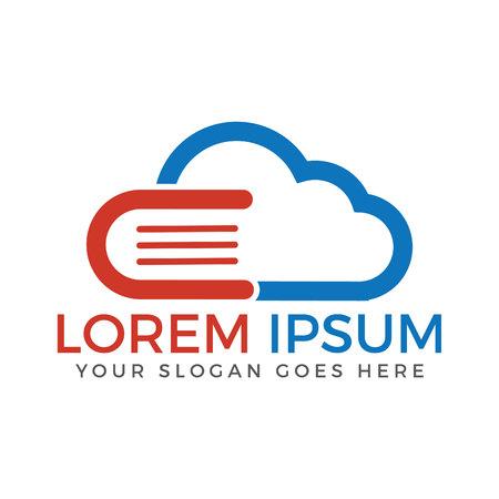 Cloud Book and E-learning Creative And Symbolic Logo Design.