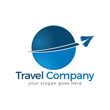 Travel Logo. Travel agency adventure creative sign. Иллюстрация