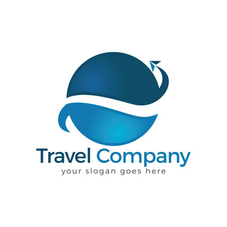 Travel Logo. Travel agency adventure creative sign. Vettoriali