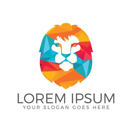 Lion head vector logo.