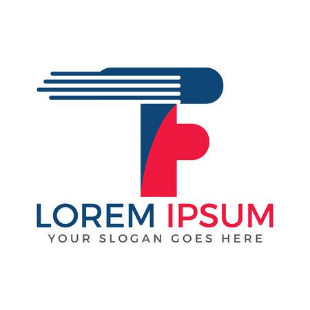 Letter F Bedrijfs- en technologie-logo ontwerp. Logo