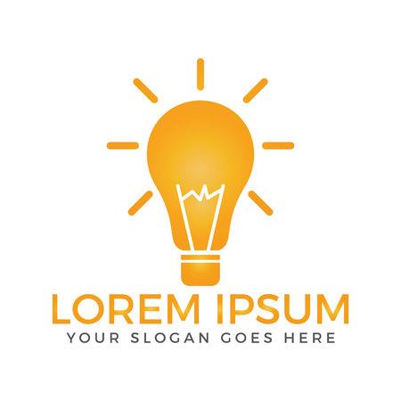 Creative light bulb logo design..