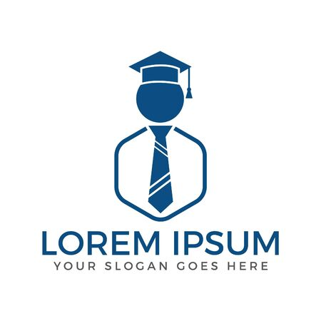 Student icon vector design. Student Logo design.