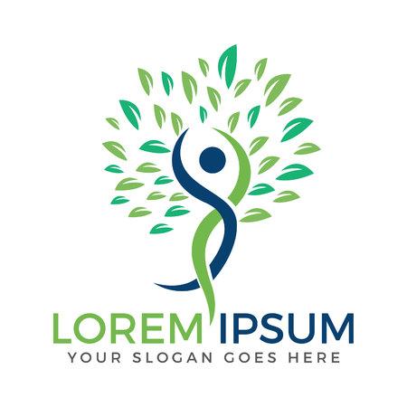 Holistisch gezondheidslogo ontwerp. Fitness- en Wellness-logo.