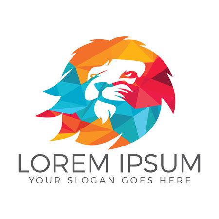Progettazione di logo vettoriale testa di Leone. Logo