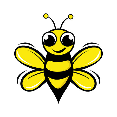 Bee Logo Design Concept. Abstract Creative Bee Icon.