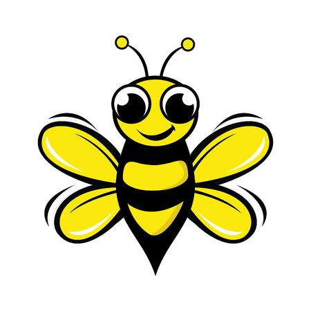 Biene Logo Design Concept. Abstrakte kreative Bienen-Ikone.