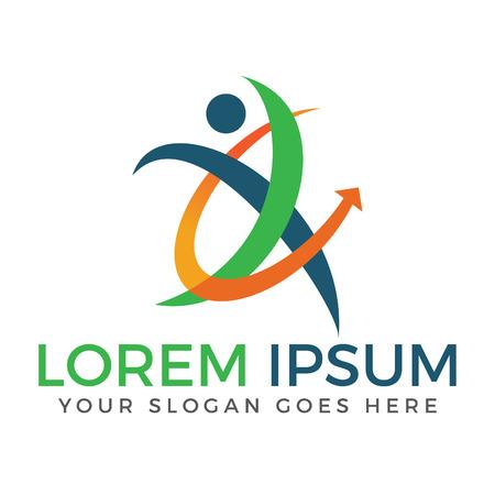 Sport fitness medical or health care center logo design concept.