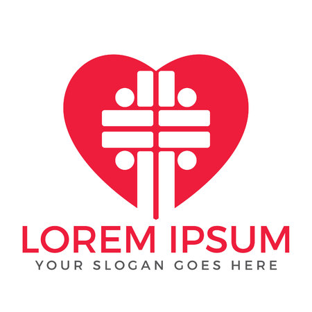 People church vector logo design template .