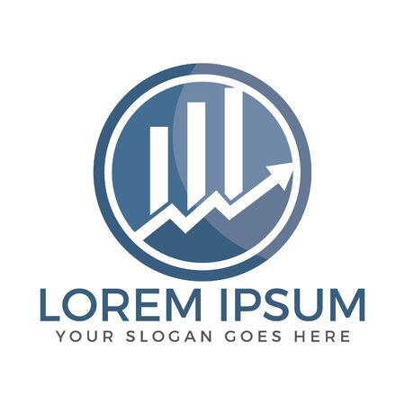 Business finance logo. Growth graphic logo. Vector logo template.