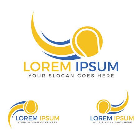 Tennis sport logo. Illustration