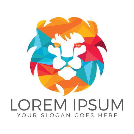 Lion head logo vector design. lion king head sign concept. Illustration