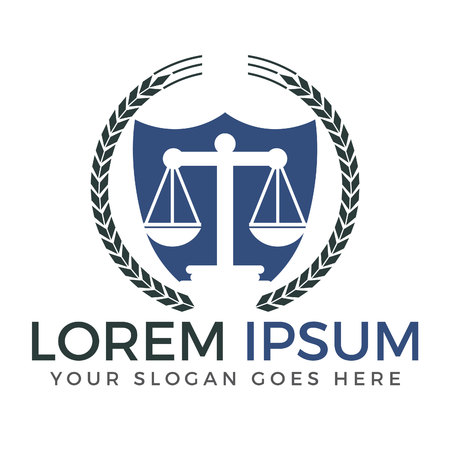 Anwaltskanzlei Design. Vektorgrafik