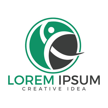Creative Medical Chiropractic Concept Logo Design