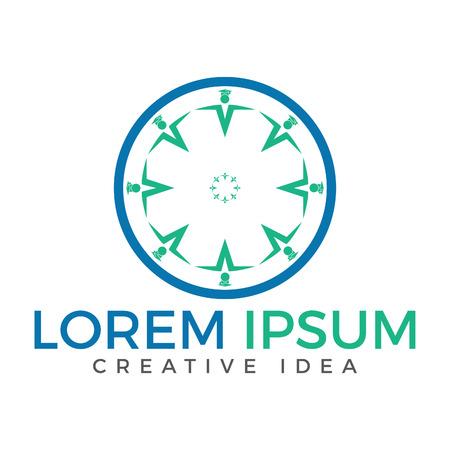 logo de l & # 39 ; éducation. conception de la classe