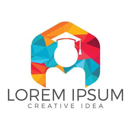 Student Logo design. Education Logo. Institutional and educational vector design.