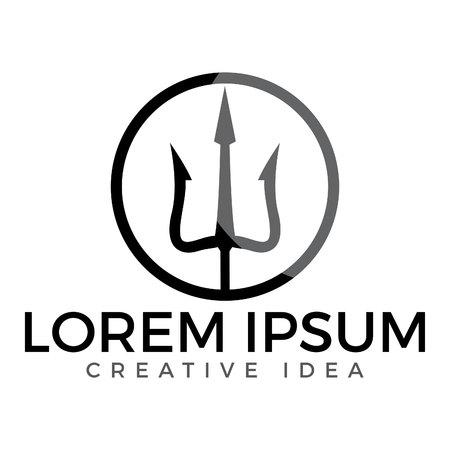 Trident icon and symbols template vector design illustration.