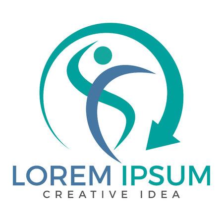 Abstract fitness logo design. Active sport logo. Success creative concept icon.