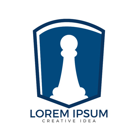 Chess logo for club or school. Sports and tournaments logo sign.