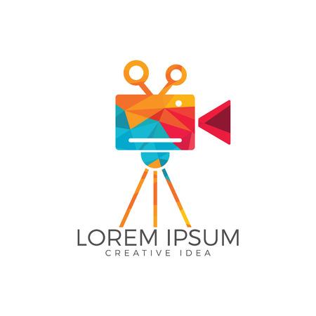Film or Movie camera logo design.