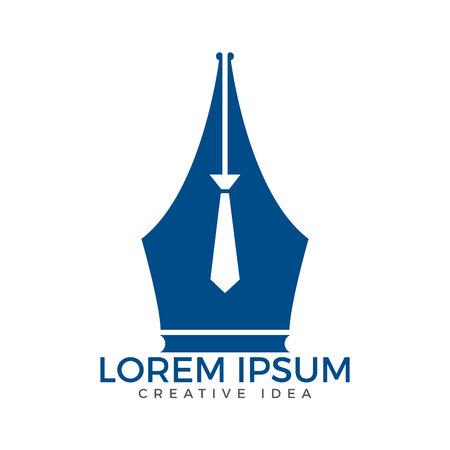 Plume plume et le logo de la cravate vecteur . logo de l & # 39 ; éducation et de la conception de logo polyvalent . vecteur Banque d'images - 99062521