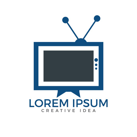 TV media icon design. TV Service icon Template Design. Ilustração