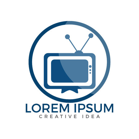 TV media logo design. TV Service Logo Template Design Vector illustration. Ilustração