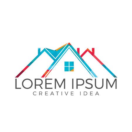 Real Estate Logo Design. Creative house symbol.
