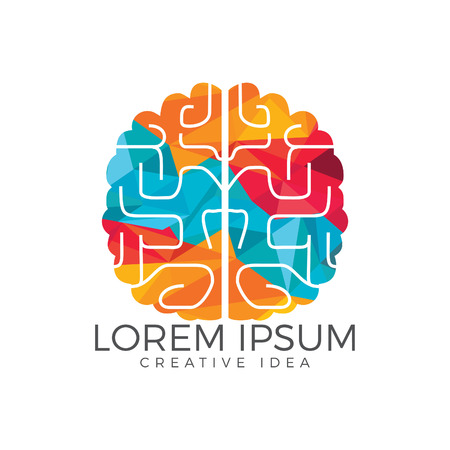 Creative brain icon design. Think idea concept.Brainstorm power thinking brain icon.