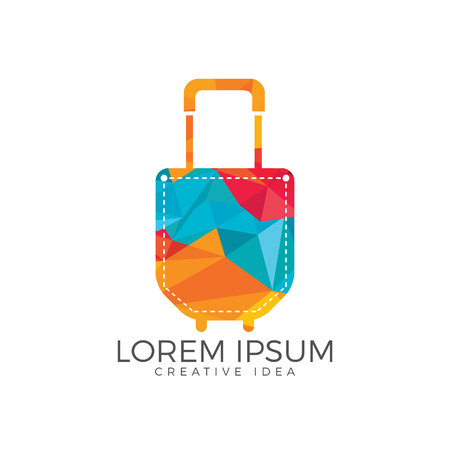 Pocket and suitcase travel abstract vector illustration. Illustration