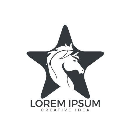 Star Horse logo design.