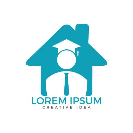 Student Logo design. Education Logo. Institutional and educational vector logo design. Illustration