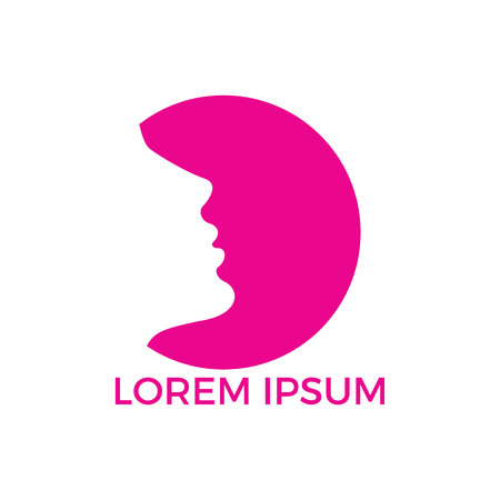Spa and salon logo design. Cosmetics and makeup artist symbol, beauty salon shop logos illustration.
