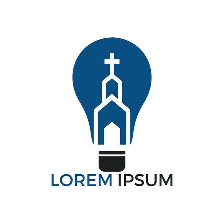 Church logo design. Ministry Logo Design for Church. The Lamp of Jesus Christ. God's lamp sign.