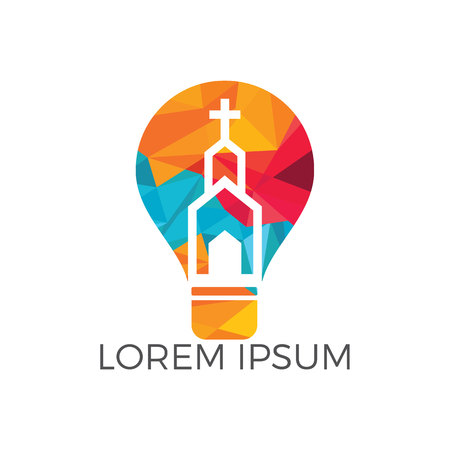 Church logo design. Ministry Logo Design for Church. The Lamp of Jesus Christ. God's lamp sign. Stock Vector - 118001760