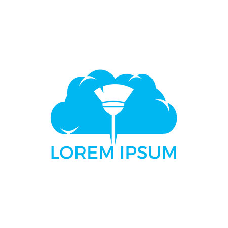 Cloud cleaning logo design. Cleaning Service Logo Design.