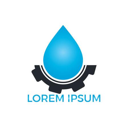 Water drop and tire vector design. Car wash automotive logo design.