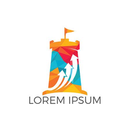 Fort business logo design concept.