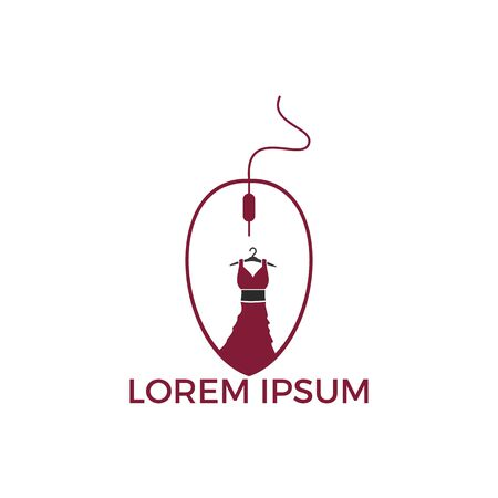 Online Fashion Sale logo design. Ladies fashion sale logo template vector illustration Ilustração