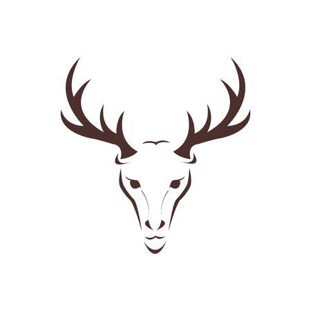 Deer head wild animal vector design. Vector image of a deer head design on white background.