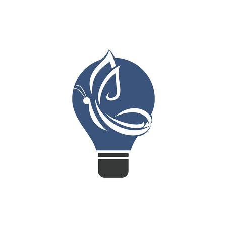 Butterfly and bulb vector logo design. Beauty salon vector logo creative illustration.