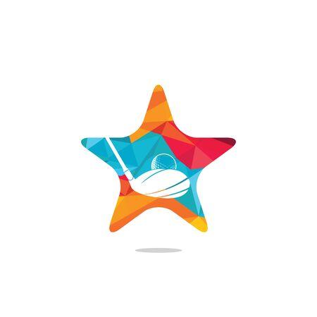 Star Golf club vector logo design. Golf club inspiration logo design.