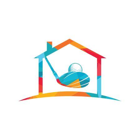 Home Golf vector logo design. Golf club inspiration logo design. Reklamní fotografie - 133010565