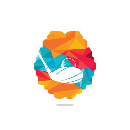 Brain golf vector logo design. Golf club inspiration logo design.