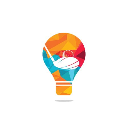 Golf club bulb shape logo design. Golf club inspiration logo design. Creative golf ideas sign. Reklamní fotografie - 133010571