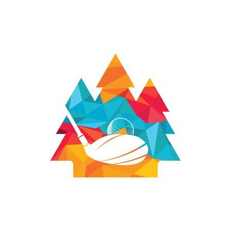 Golf pine tree vector logo design. Golf club inspiration logo design. Reklamní fotografie - 133010572