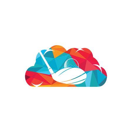 Cloud Golf vector logo design. Golf club inspiration logo design.